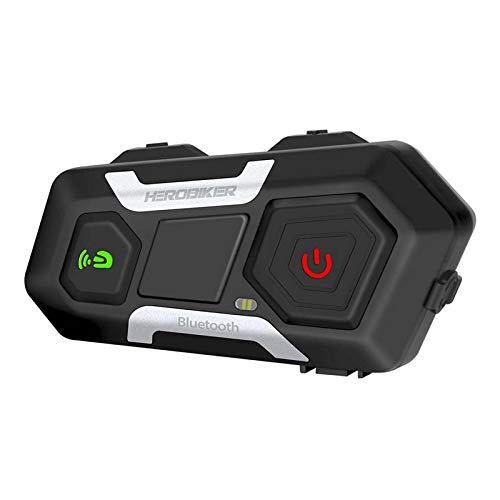 IPOTCH Intercomunicador Inalámbrico de Motocicleta 1200M Auriculares Bluetooth para Casco Manos Libres