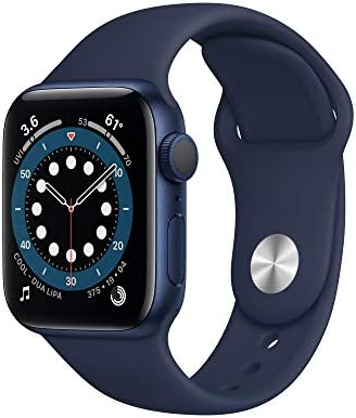 New Apple Watch Series 6 GPS 40mm Blue Aluminum Case with Deep Navy Sport Band product image