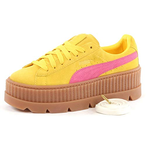 Puma Damen Sneakers Cleated Creeper Suede gelb (31) 36