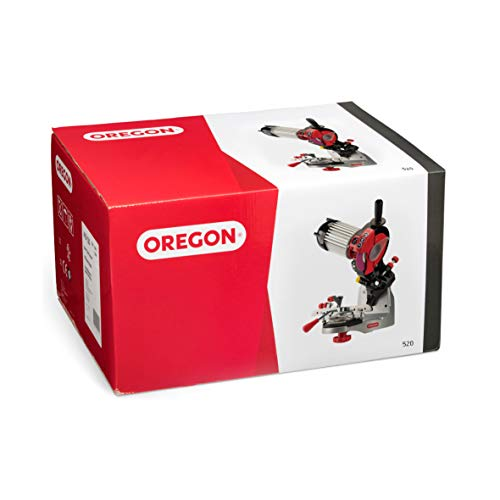 Oregon 520-120 120V Bench Mounted Saw Chain Grinder, Professional Sharpener for Chainsaw Chains, Sharpens Oregon, Stihl, Husqvarna Chains and More