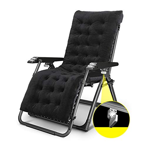 Fauteuils de salon inclinables Fauteuil lounge Zero Gravity surdimensionné pour pelouse avec coussin épais, chaise longue de jardin inclinable pour jardin pour plage, support de 330 lb