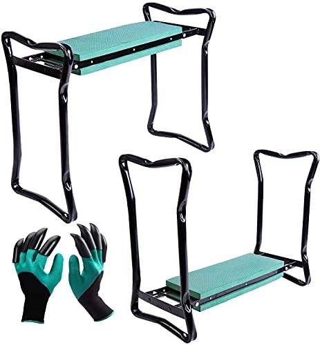 Ossian Garden Kneeler - Portable Quick Folding Versatile 3-in-1 Outdoor...