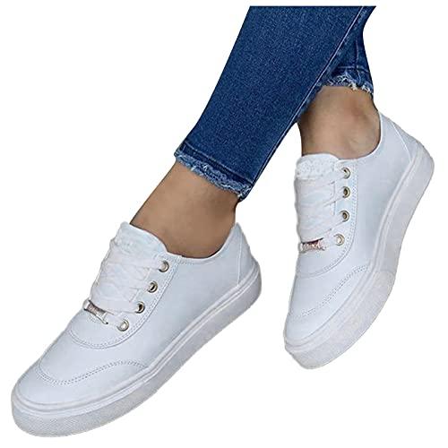 Dasongff Damen Mädchen Flache Schuhe Runners Turnschuhe Fitnessschuhe Freizeitschuhe Laufschuhe Atmungsaktiv Leichte Joggingschuhe Sneakers Sommerschuhe Lässige für Fitness Gym Outdoor