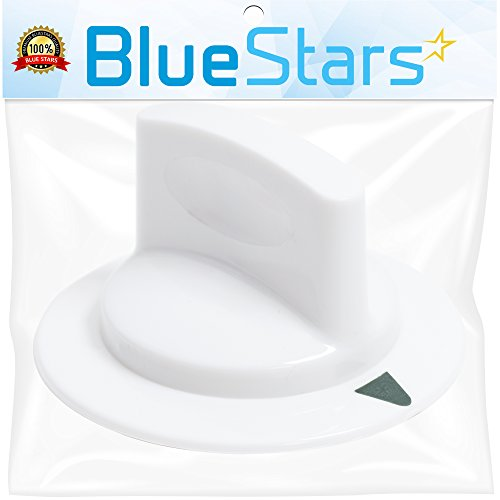 Unbreakable WE1M652 Dryer Timer Control Knob with Metal Ring Replacement Part by Blue Stars - Exact Fit for Hotpoint & General Electric Dryers - Replaces 1264289 AP3995164 PS1482196 AH1482196