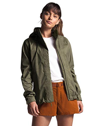 Womens Venture 2 Waterproof Hooded Camo Print Olive Green Rain Jacket