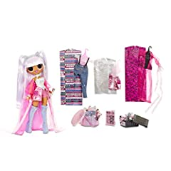 UNBOX 25 SURPRISES with L.O.L. Surprise. O.M.G. Remix fashion doll, Kitty K. She has stunning features, styled hair and articulated for tons of poses. FASHION REMIX: Kitty K comes with 2 fashion looks, but her 2nd outfit got remixed with her BFF, Pop...