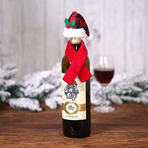 Gleisnut. Zweiteiliges Kleid Weihnachtsdekorationen kreative neue Flasche Wein Sets Tischdeko Requisiten 5PCS / LOT (Color : A, Size : 5CM*7.5CM)