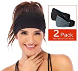 Heathyoga Non-Slip Headband for Women -Silicone Grippy Sweatband & Sports Headband for Workout, Running, Crossfit, Yoga Bike Helmet Friendly, Performance Stretch & Moisture Wicking