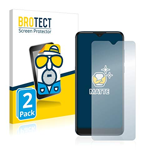 BROTECT 2X Entspiegelungs-Schutzfolie kompatibel mit Alcatel 1S 2020 / 3L 2020 Displayschutz-Folie Matt, Anti-Reflex, Anti-Fingerprint