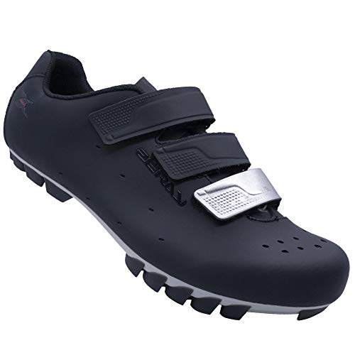 Cycling Shoes Bike Shoes MTB Shoes Mountain Shoes Double Hole Bicycle Shoes EY103 Black