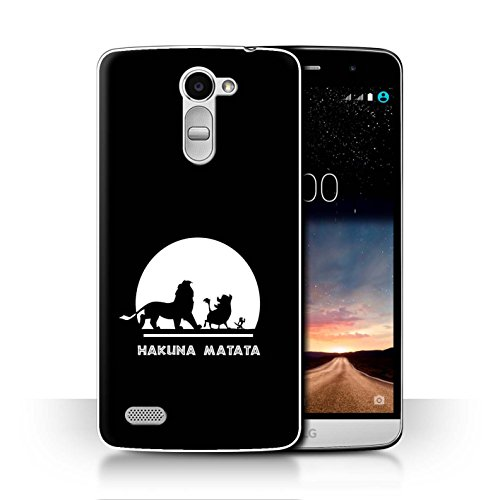 Hülle Für LG Ray/X190 Karikatur Afrikanische Tiere Hakuna Matata Design Transparent Ultra Dünn Klar Hart Schutz Handyhülle Case