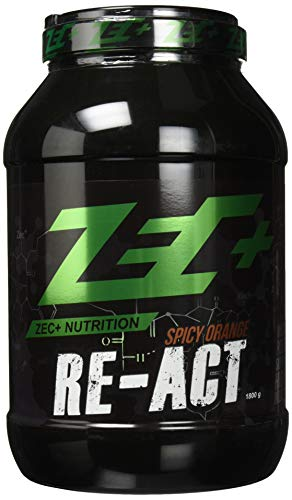 ZEC+ Re-Act Shake | All-in-one Post Workout Formel mit essentiellen Aminosäuren | Creatin-AKG | Glutamin-AKG | Ergogenics | Vitaminen und Mineralien | Spicy Orange 1800g