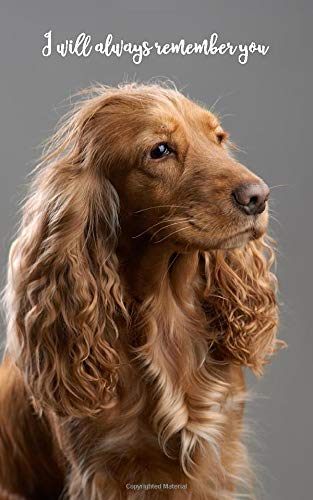 I will always remember you: English Cocker Spaniel   109 Pages   For 432 Entries...