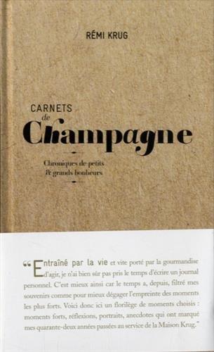Carnets de champagne de remi krug (HISTOIRE DU VIN)