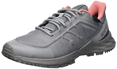Reebok Damen Astroride GTX 2.0 Trail Running Shoe, Spacer Grey/Essential Grey/Twisted Coral, 38 EU