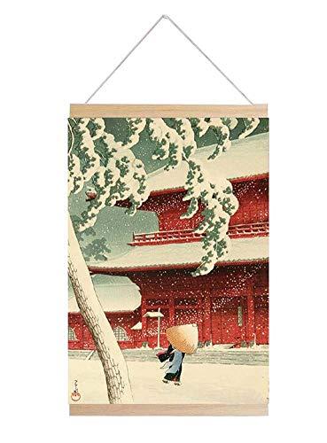 Jingyun Japanische traditionelle Kunst Poster Sushi Shop Home Holzrahmen Wand Print B05