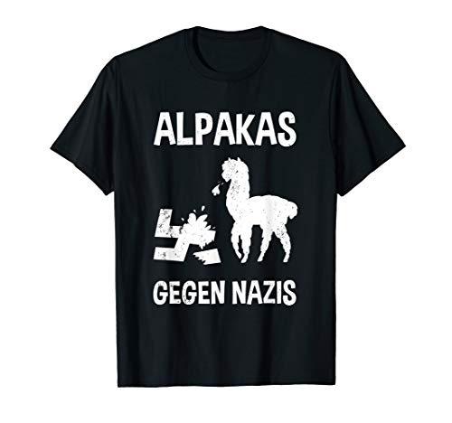 Alpakas Gegen Nazis Design Gegen Rechts Black Lives Matter T-Shirt