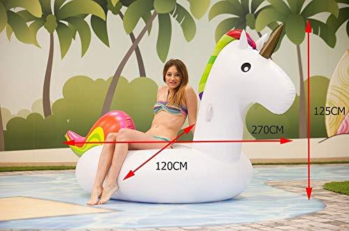 Creaciones Llopis 6445 Unicornio Gigante Hinchable, Adultos Unisex, Multicolor (Multicolor), 190 cm