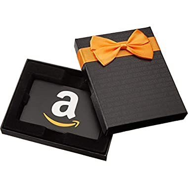 Amazon.com Gift Card in a Black Gift Box ( A  Smile Card Design)