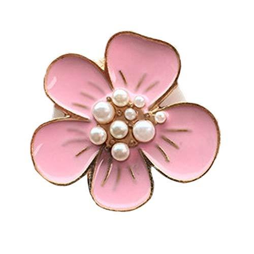 Flor Coche Salida de Aire fragante Perfume ambientador de Aire del difusor del Clip no tóxico decoración Interior Auto (Color : Pink)