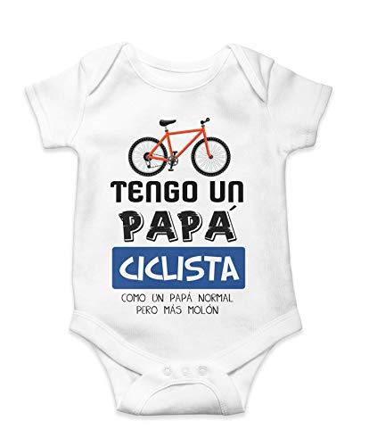 Body Camiseta Bebé Niño Ciclista Papá Mamá Bicis Regalo Original