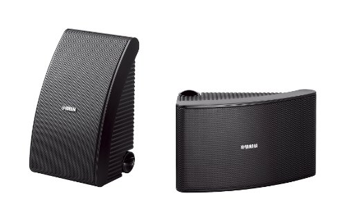 Yamaha NS-AW592 2-Wege Außenlautsprecher (150 Watt, 88 dB) 1 Paar schwarz