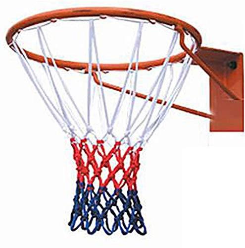 vap26 50cm Baloncesto Meta Argolla Red, Recambio Canasta de Baloncesto, Canasta de Baloncesto Red, Soporte Pared Exterior Colgante Cesta - Blanco y Rojo, Free Size