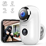 Victure 1080P Outdoor Security Camera Home Wireless Rechargeable Battery Powered WiFi Camera with PIR Motion Detection Night Vision 2-Way Audio and IP65 Waterproof