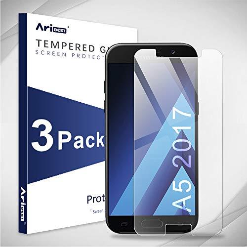 Aribest Panzerglas Für Samsung Galaxy A5 2017,9H Härte,HD Klar,[3 Stück] Schutzfolie Displayschutzfolie für Samsung Galaxy A5 2017