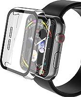 YoLin 2-Stück Mit Panzerglas Ultradünne Displayschutz Kompatibel mit Apple Watch Series 6/ SE/Series 5 / Series 4, PC...