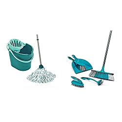 Convenient, all in one mop; bucket and wringer set All one needs for quck floor cleaning , Capacity - 12 litre Set consisting of bucket, attachable wringer, mop head and five part handle Enables cleaning without hands in the dirt water and without be...
