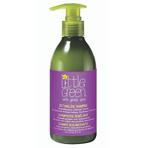 Little Green - Champú desenredante 240 ml para niños sin sulfatos, parabenos ni gluten | producto vegano sin aromas añadidos