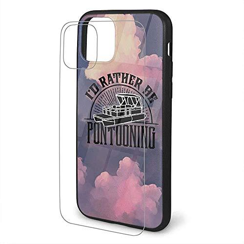 Binnenwinkel compatibel metI'd liever Pontooning - Pontoon boot iPhone 11 TPU beschermhoes