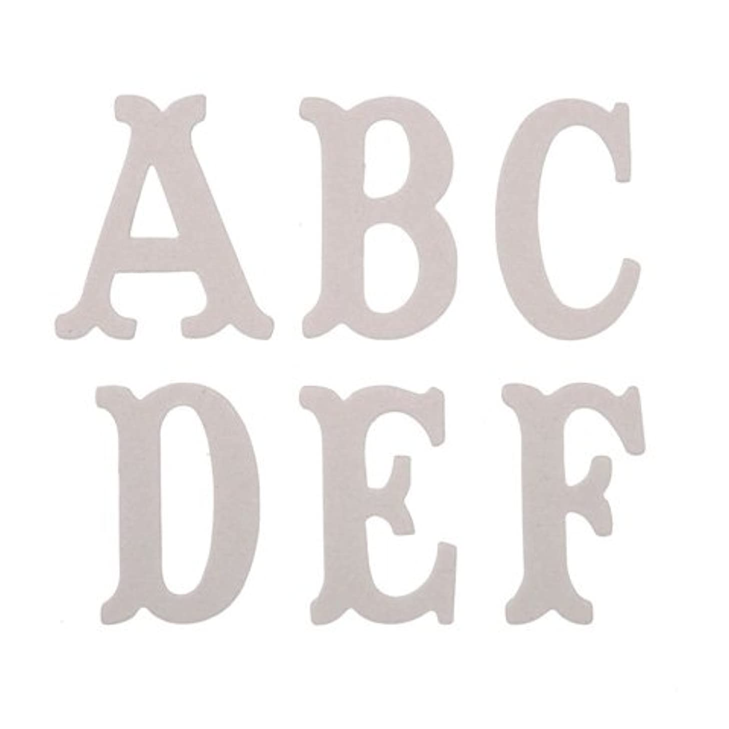 Package of 52 Stylish Chipboard Letters Are Perfect for a Variety of Do-it-yourself Projects.
