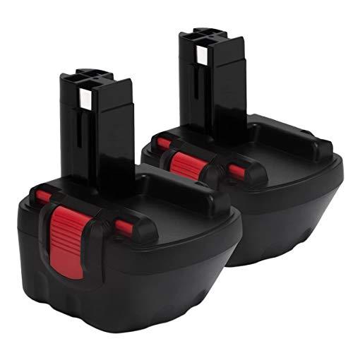 2PCS Exmate 12V 3.5Ah Batería para Bosch BAT139 BAT046 BAT049 BAT120 2607335249 2607335261 2607335262 2607335683 2607335692, Ni-MH Batería de repuesto