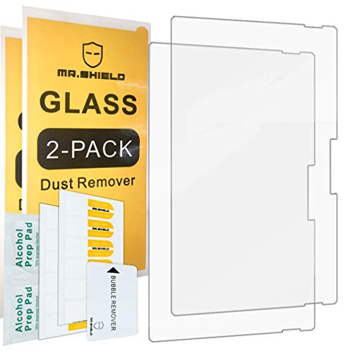 [2-Pack]-Mr.Shield For Microsoft Surface Pro 7 [Tempered Glass] Screen Protector [0.3mm Ultra Thin 9H Hardness 2.5D Round Edge] with Lifetime Replacement Mississippi