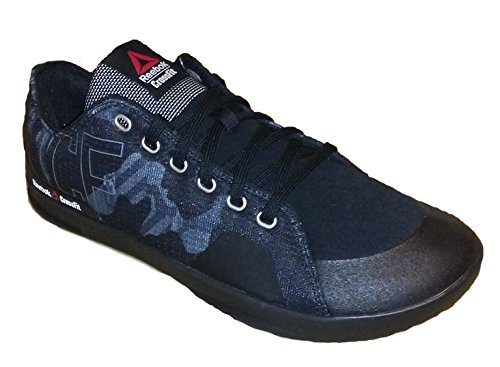 Reebok Mens Crossfit Lite Lo TR 2.0 GR Fitness Shoe Black/Alloy/White (7.5)