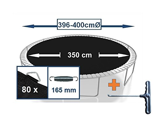 Sprungtuch Sprungmatte Ersatzteile für Trampolin Ø 396 cm 80 Ösen (Federn 16,5 cm)