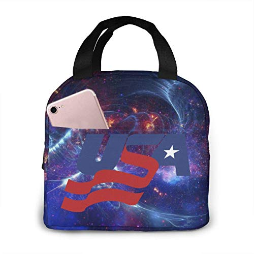 ChaojudingH USA Hockey Lunch Bag Kühltasche Tote Insulated Brotdose Thermal Lunch Bag For Women/Picnic/Boating/Fishing/Work