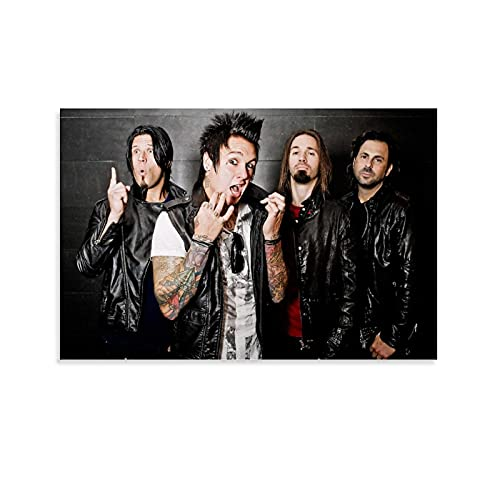 ZHIJIADAO Rock Band Papa Roach Poster Decorative Painting Canvas Wall Art Living Room Posters Bedroom Picture Print Aesthetic 08x12inch(20x30cm)