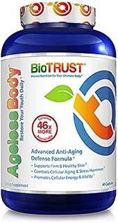 BioTrust Ageless Body Anti-Aging Supplement   Turmeric Curcumin Extract, CurcuWIN, Vitamin C, CoQ10   Combats Cellular Aging   Non GMO, Soy Free & Gluten Free Formula   60 Capsules