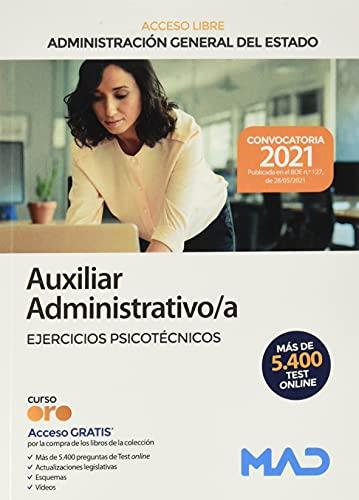 Auxiliar Administrativo de la Administración General del Estado (Turno libre). Ejercicios psicotécnicos