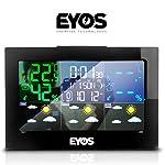EYOS Station météo sans Fil avec capteur extérieur – Thermomètre numérique et hygromètre – pour intérieur/extérieur/Heure/humidité de l'air, Phases de Lune #3