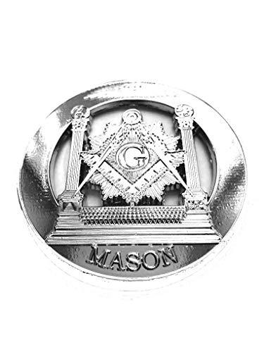 Masonic Mason Pillars Metal Chrome Heavy Decal Auto Truck Car Emblem