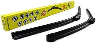 650/480mm EASY CLIP Scheibenwischer Wischerblätter Aero Set Premium Qualität Scheibenwischerblätter für Frontscheibe mit 9x ADAPTER