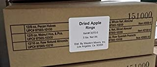 Dried Apple Rings - 5 lb. Box