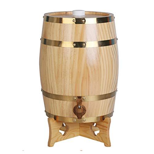 Dispensador de cubo forrado Barril de roble de madera Barril de cerveza Whisky Cerveza Ron Dispensador de barril Caja de almacenamiento compuesta por roble Barril Caldera Fermentador Resina Cubo de al