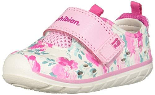 Stride Rite Girl's Made2Play Phibian Sneaker Water Shoe, White/Pink, 6 M US Big Kid