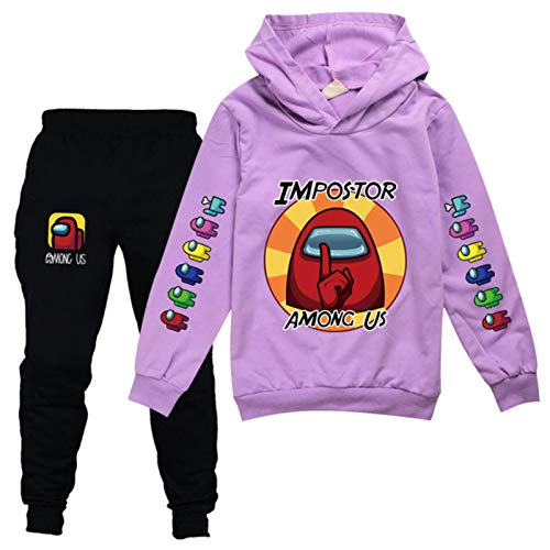 Dannel 2-16Y Anime Among Us Tracksuit Kids Game Impostor Printed Hoodie Pants 2pcs Sets Baby Boys Clothing Set Toddler Girl Outfits