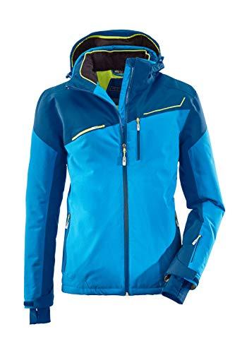 killtec Skijacke Herren Den - Snowboardjacke Herren mit Schneefang - wasserdichte Jacke mit Skipasstasche - atmungsaktiv, ocean, XXL